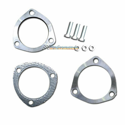 """3"""" 76Mm Stainless Steel 3 Bolt Exhaust Flange Plate Set Kit"""