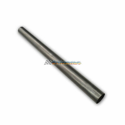 """2.5"""" INCH 63MM MILD STEEL STRAIGHT EXHAUST PIPE TUBE x 1 METRE LENGTH 21/2 2 1/2"""