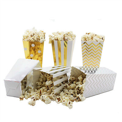36/108pcs Gift Paper Popcorn Boxes Hollywood Movie Cinema Mini Party Favor Bags