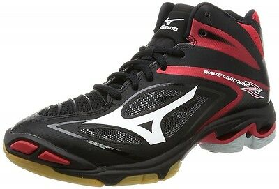 Mizuno Volleyball Shoes Wave Lightning Z3 MID V1GA1705 Black&White&Red Japan