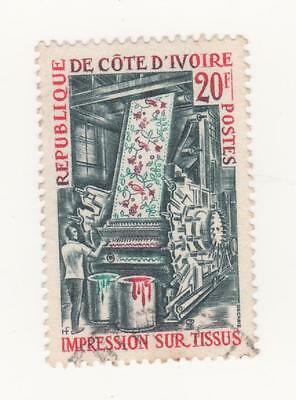 1970 IVORY COAST Industrial Expansion  issue - 20f. paper manufacturing Used FU
