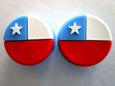 2 Chile FLags Tennis Vibration Shock Absorber Dampeners Marcelo Rios Gonzalez