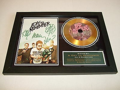 A Day To Remember  Signed Framed Gold Cd  Disc   55332