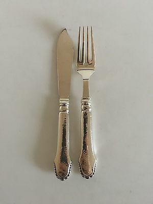 Christiansborg Fish Flatware Set in Silver. 24 Pieces for 12 pers.