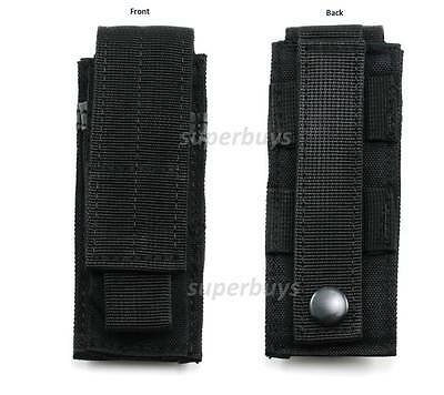 Black MOLLE Tactical Cordura Belt Pouch Holder Holster Bag Case Hold Torch Tool