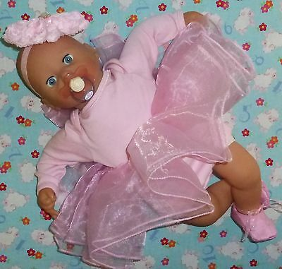 "New baby girl doll outfit clothes pink ballerina annabell chou alive 19"" 20"""