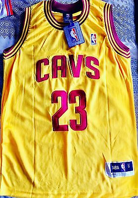 Brand New NBA Cleveland Cavaliers James Jersey #8 SMALL Yellow