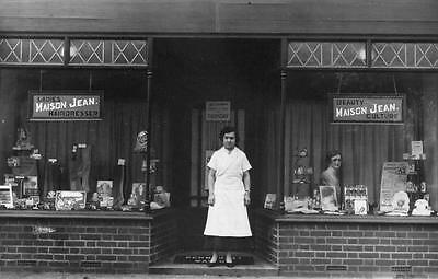 Maison Jean Ladies Hairdressers Shop Front 8 the Arcade Bedford unused RP pc