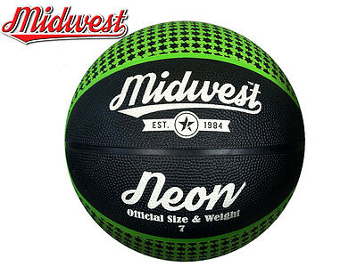 *brand New* Midwest - Neon Basketball - Green/black - Size 3, 5, 6, 7