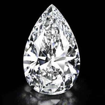1.50Ct Pear Cut Cubic Zirconia Loose Stone With Bright Sparkle