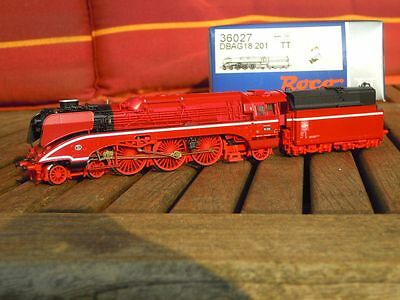 ROCO 36027 TT Steam locomotive of the BR 18 201 DB AG Ep.5/6, With DSS, in , LED