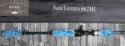 BASS LOOMIS 662ML 2 piece fishing casting carbon rod198cm