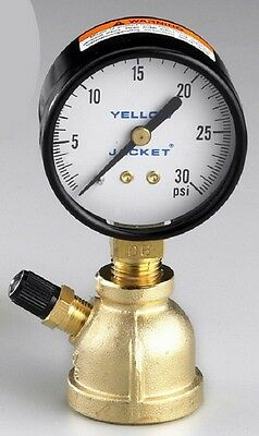 "Ritchie Yellow Jacket 78080 2"" Gas Test Gauge - 3/4"" NPT - 30 lb"