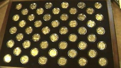 Statehood Quarters 24KT Gold Layered Edition Morgan Mint With Case COMPLETE