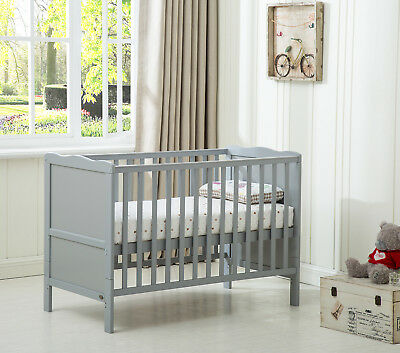 "MCC Wooden Baby Cot Bed ""Orlando"" & Water repellent Mattress"