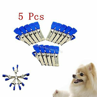 5pc Veterinary animals EKG/ECG Machine Alligator Electrode Clip For Snap Cable