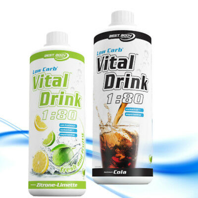 (EUR 11,99/L) Best Body Nutrition 1 Liter Flasche Low Carb Vital Drink