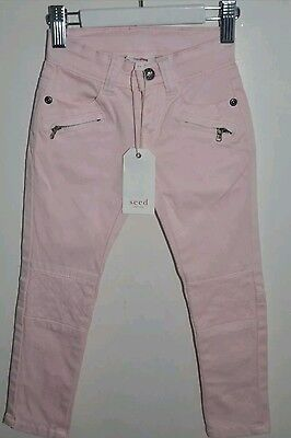 Seed Sample Girls Jeans Denim Baby Light Pink Skinny Stretch Size 2-3 AU sell