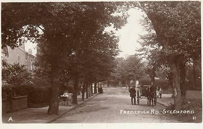 Frederick Road Stechford Horse & Cart Nr Birmingham RP pc used 1915