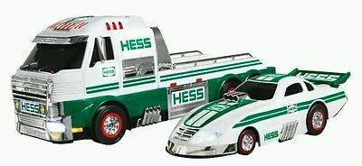2016 Hess Truck w/ Dragster FREE BATTERIES AND PRIORITY SHIPPING!!