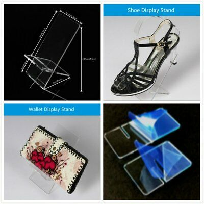 2 x Clear Acrylic Retail Shop Display Stand Phone Holder Purse Multi Purpose