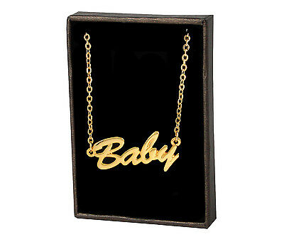 """Name Necklace """"BABY"""" – 18K Gold Plated 