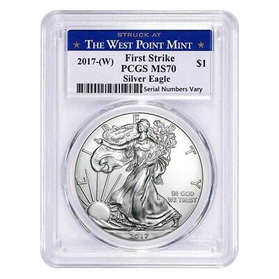 Sale Price - 2017-W 1 oz Silver American Eagle $1 Coin PCGS MS 70 First Strike (