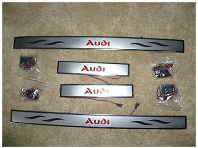 LED Door Sill Plate Stainless Steel TO FIT AUDI A4 LED SILL PLATES