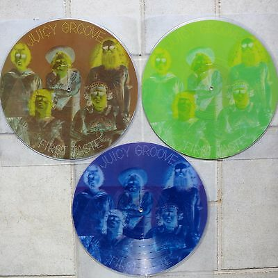 JUICY GROOVE - First Taste PICTURE DISCS 3  LPs diff. wrong colours MISPRESSINGS