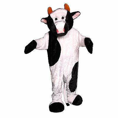White & Black Adult's Cow Mascot Costume By Dress Up America