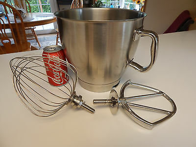 mixing bowl attachments Kenwood Major Chef beater paddle whisk stainless
