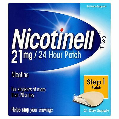 5 Packs of Nicotinell TTS30 21mg/24 Hour Patch Step 1 21 Day Supply