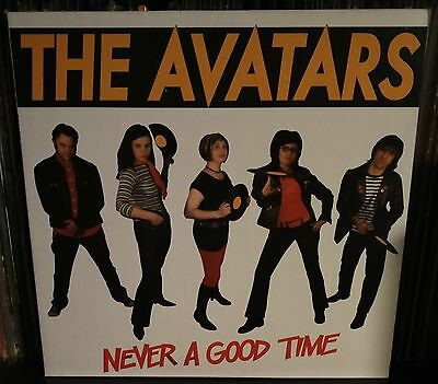 The Avatars  ‎– Never A Good Time lp 2006 Nm Garage Lofi! Us Issue No Fun Record