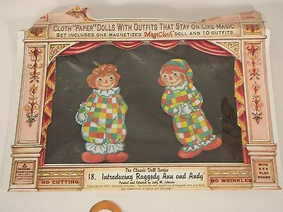 MagiCloth Magnetized Classic Doll Series #18 Raggedy Ann & Andy w/Playboard