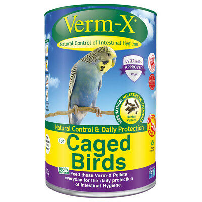 Verm-X Herbal Pellets For Caged Birds - 100 g Tube - Pet Wormers & Endoparasites