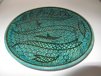 Antique Islamic Ottoman Syrian Pottery Painted Charger