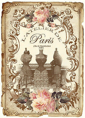 NeW! AsSoRTeD VinTaGe FRenCh PerFuMe LaBeLs ShaBby WaTerSLiDe DeCALs