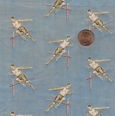 Antique Olympic High Jump Fabric Square