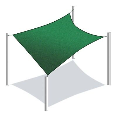 ALEKO Square 12'X12' Waterproof Sun Shade Sail Canopy Tent Replacement Green