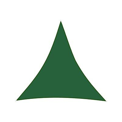 ALEKO Triangular 16.5'x16.5'x16.5' Waterproof Sun Shade Sail Canopy Green Color