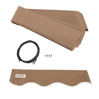 ALEKO Fabric Replacement For 10x8 Ft Retractable Awning Sand Color