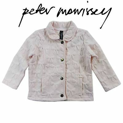 New Baby Girls Size 00 Peter Morrisey Soft Light Pink Jacquard Jacket