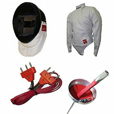 4pc Deluxe Electric Epee Set Blade Fencing