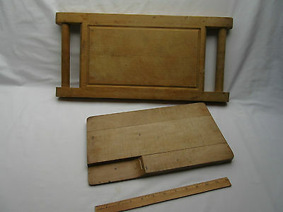 old vintage rectangular not square wooden bread boards x 2