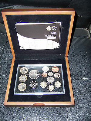 2011 United Kingdom 14 coin proof set collection in executive case