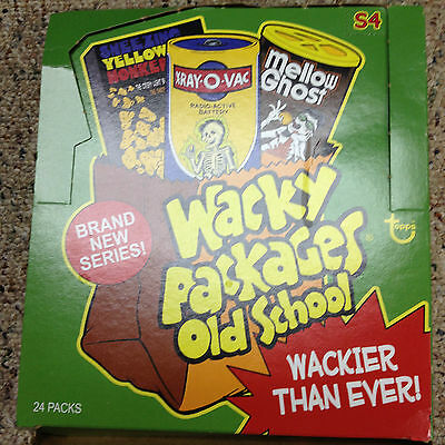 Wacky Packages Old School 4 Box 24 Unopened  Packs  No Sketch