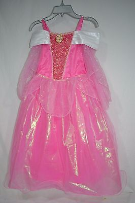 Disney Store Princess Aurora Sleeping Beauty Pink Costume Dress Size 7/8 NWT