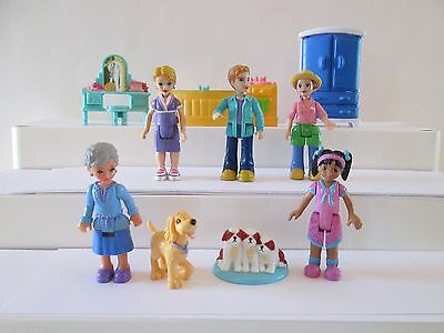 10 pc Fisher Price Sweet Streets Dollhouse family figures furniture Grandmother