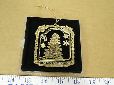 Fez-Tival of Trees Bektash Shriners NH Stamped Cut Tin Christmas Ornament