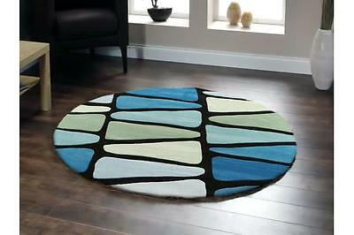 Rock Star Blue And Green Round Rug 150x150cm